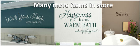 bathroom quote more wall stickers in store